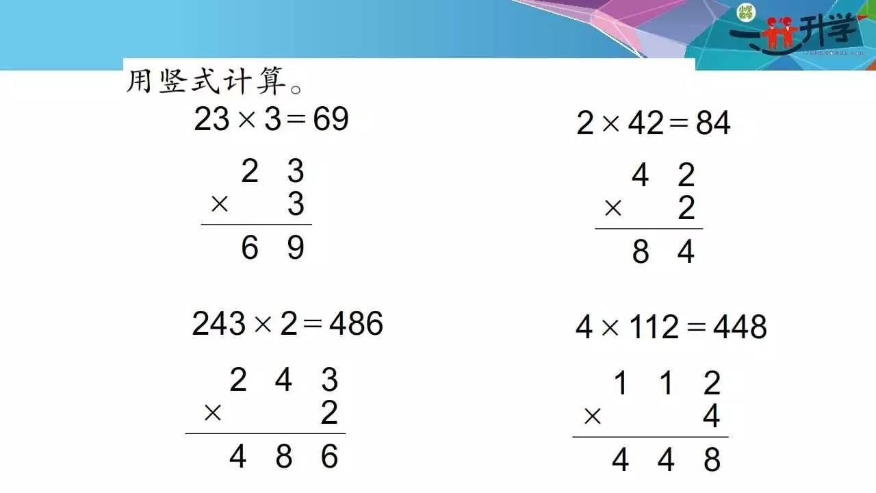 两位数乘一位数不进位(人教三数上讲方法)