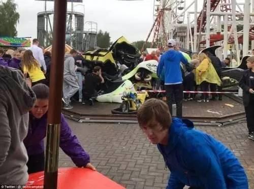 最担心的事情发生了!游乐场大摆锤空中解体游客坠落1死7伤!