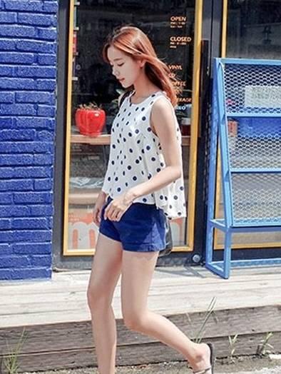 夏季服装搭配,看看韩国美眉怎么穿!