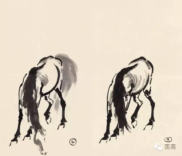 徐悲鸿国画马 牛 狮子 猫的画法步骤图片