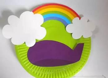 幼儿园手工制作飞船,彩虹望远镜,美呆了!