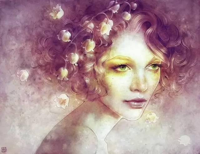 人物插画|唯有鲜花与美人不可辜负