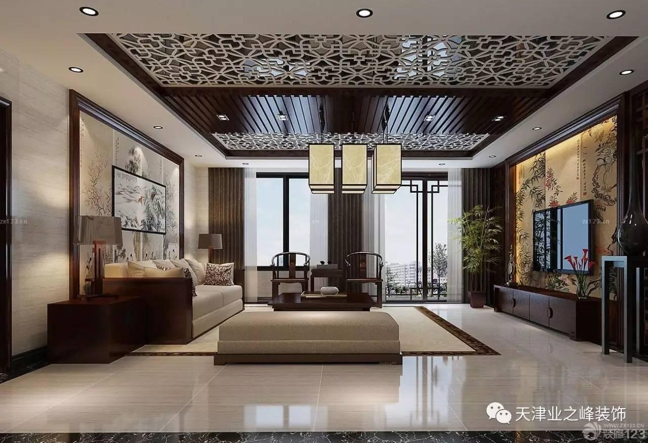 看上面客厅装修效果图的展示中,就是使用了一款组合型的中式吊灯,其图片