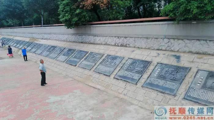 十里滨水公园新景观二十四孝文化墙.李凭 摄