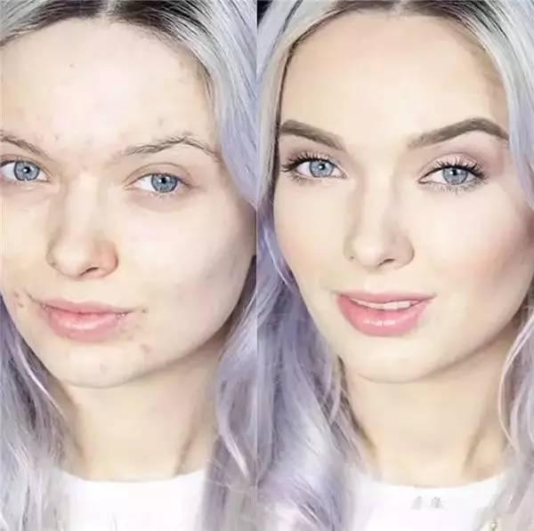 """女人的""""化妆以后""""和""""卸妆以后""""……"""