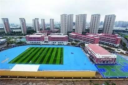 鲁标实施后,青岛第一条环保校园跑道建成