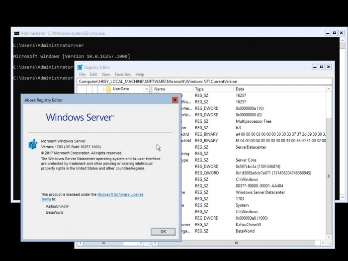 WindowsServerInsiderBuild16257版本发布