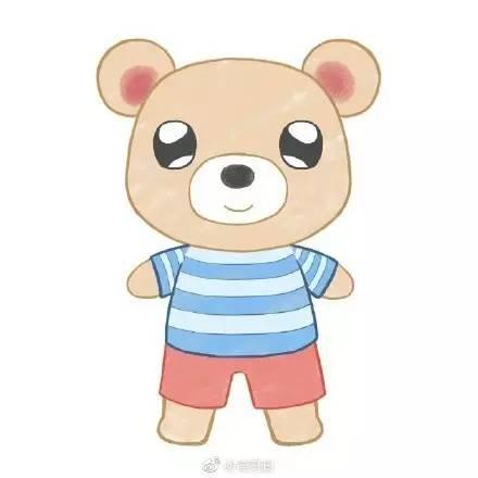 简笔画 小熊