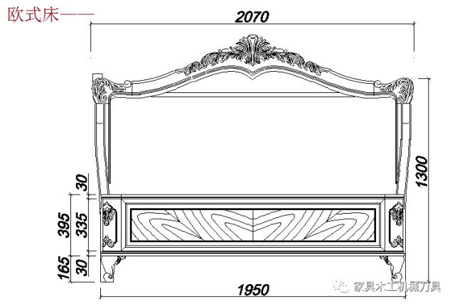 实木家具床加工cad设计图纸,内附cad看图软件