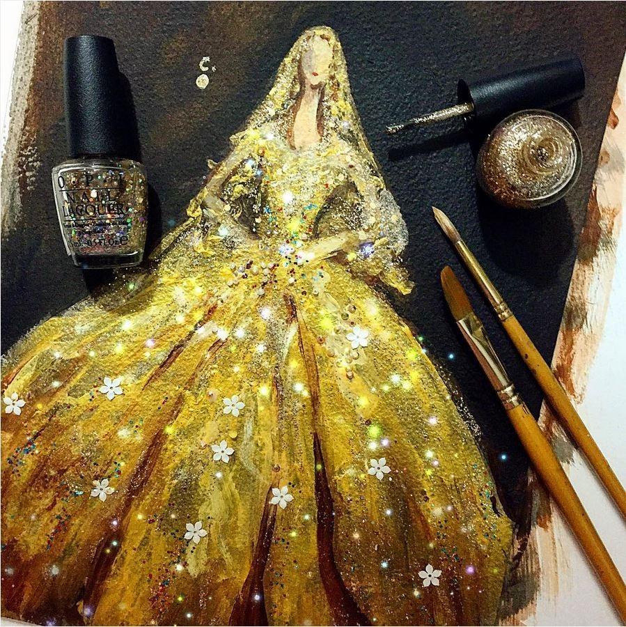 她用口红 指甲油画出了每个女孩心里的那个梦