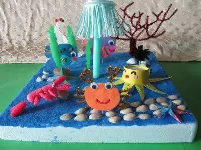 20名 5 儿童手工折纸 海底世界diy 本活动主要是学习制作海洋生物,并