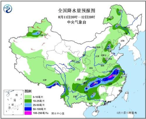 南方多省有强降雨华北东北多雷阵雨 九寨沟将降雨