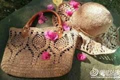 漂亮的钩针菠萝花包包,漂亮又实用!有编织教程