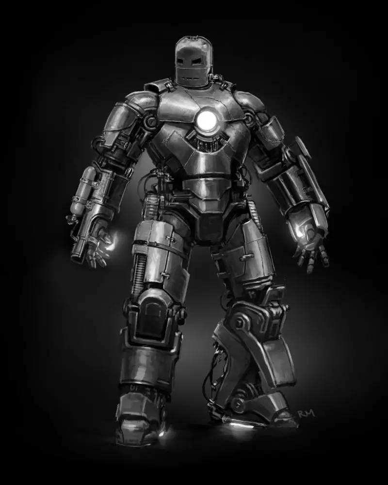 钢铁侠马克一号设计图赏,钢铁侠从此诞生