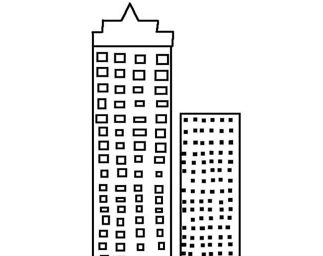 高楼大厦建筑简笔画 简笔画
