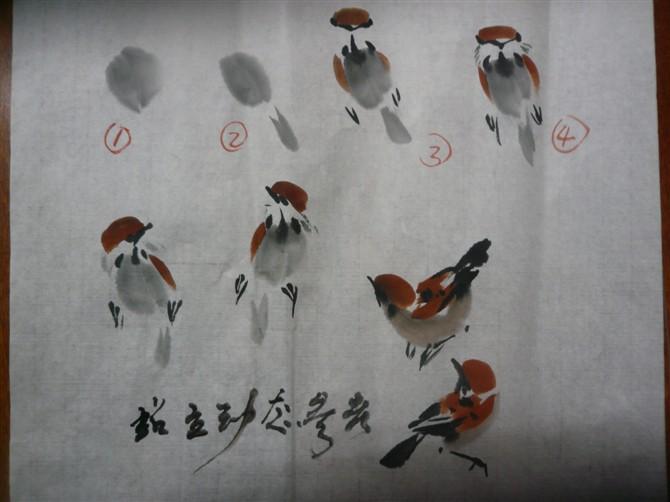 三,怎样画小燕子(麻雀引申燕子)
