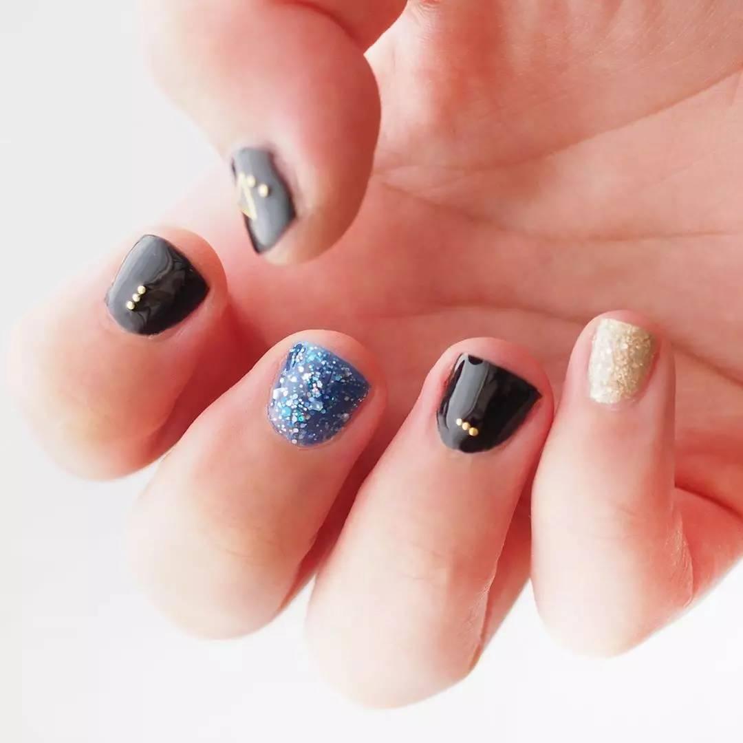 指甲短又小 日本美甲达人的这些美甲造型就适合短指甲的你