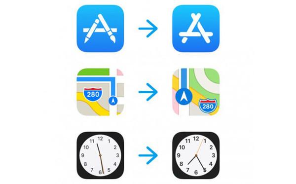 ios 11测试版又有什么新花样?地图图标代表新的苹果图片