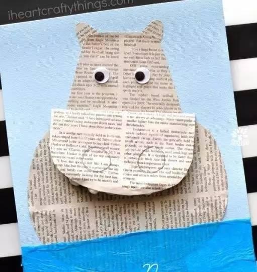 报纸粘贴画动物