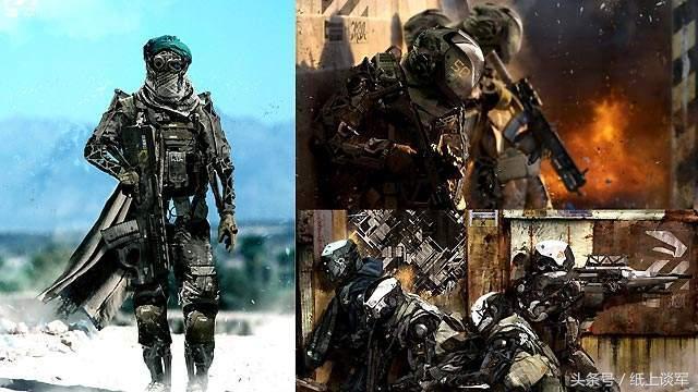 头戴可视头盔,腿部安装液压部件,犹如科幻大片《铁甲威龙》中的机械图片