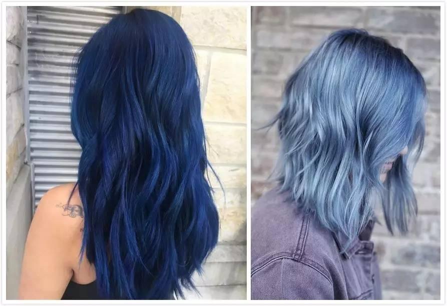 为拍mv特意去染了蓝色的头发,还因为头发漂染过后脱色快写过长微博