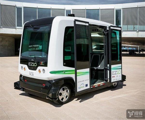 无人驾驶巴士正式在日本上路测试:时速10公里/小时