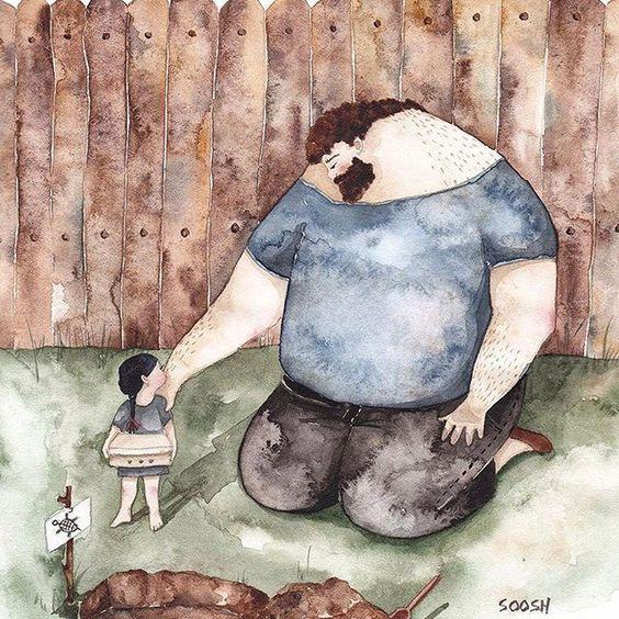 伤心的小乌龟卡通-感动了无数人的漫画