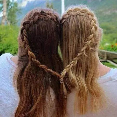 闺蜜发型~永远都要在一起,让你们永不分离!图片