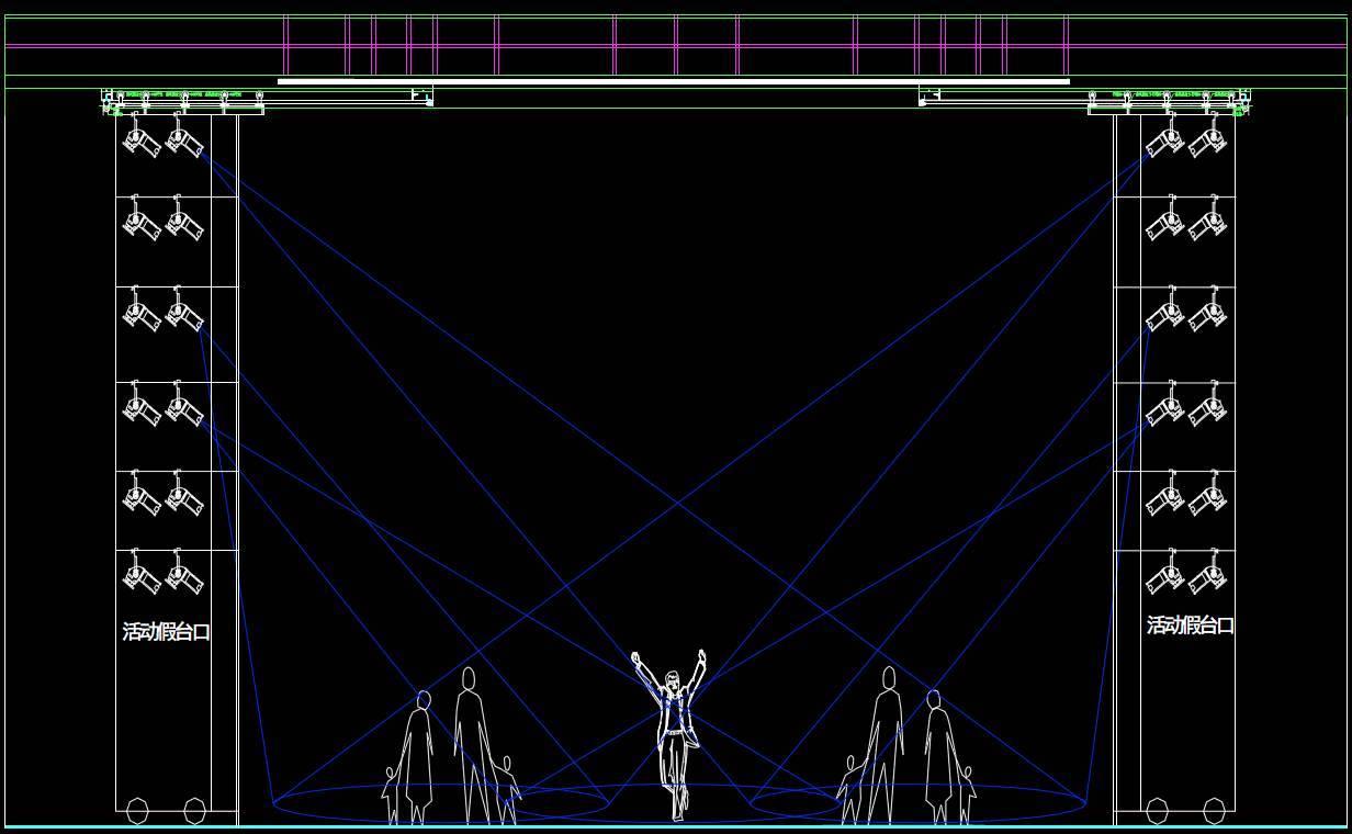 """看似简单的镜框式舞台,原来各""""灯位""""分工如此之细图片"""