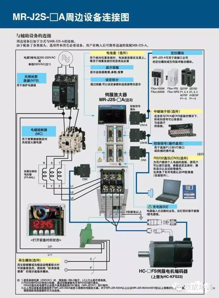 带减速器电机,【收藏】伺服电机实物接线图