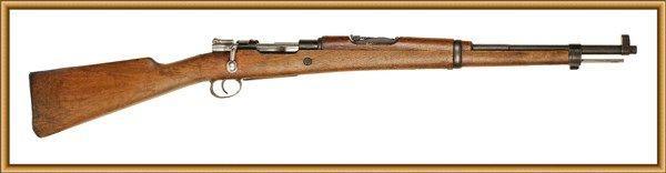 16-13 上图为西班牙《m43式》毛瑟步枪.口径 7.