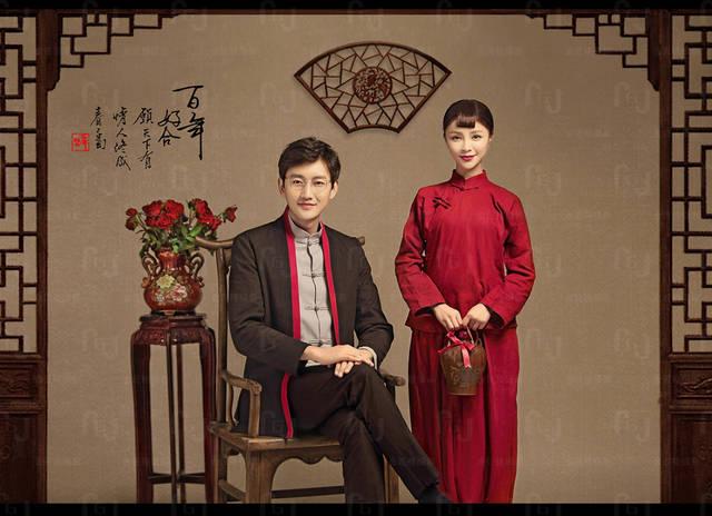 上海拍婚纱照_西安复古婚纱照风格3,老上海风格