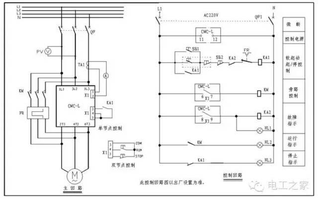 日本囹�a�l#�+_3,cmc-l系列数码型电机软启动器典型应用接线图