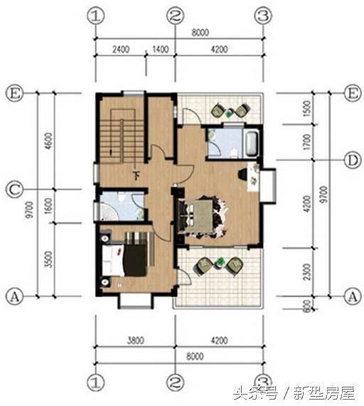 新农村8x9米自建房小户型分享,简单干净!含图纸