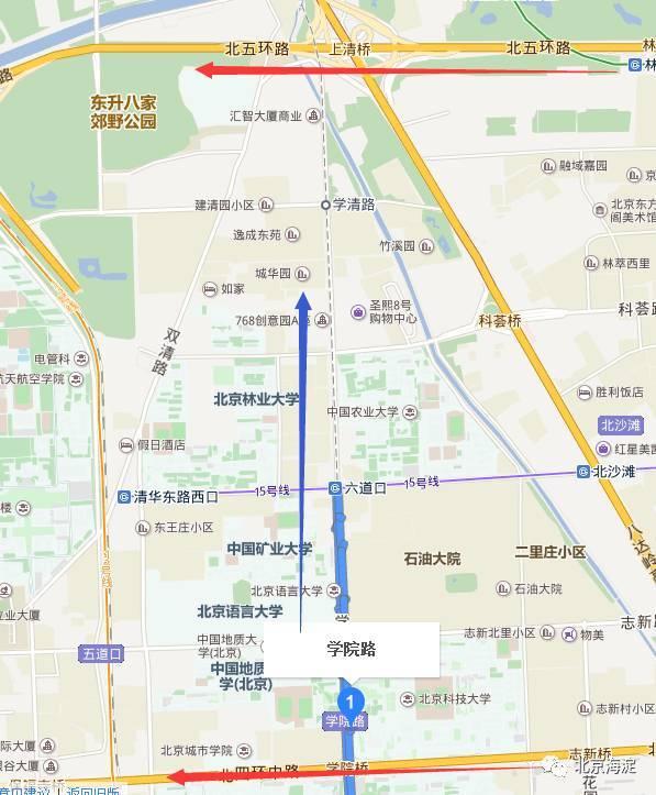 十一,學院北路北延(四環一五環)提級快速路 結合京張高鐵(學院南路一圖片