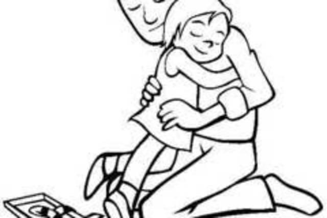 父女牵手的简笔画_父亲节,让我们聆听这则火遍朋友圈的父女心灵故事,感受父爱深沉!