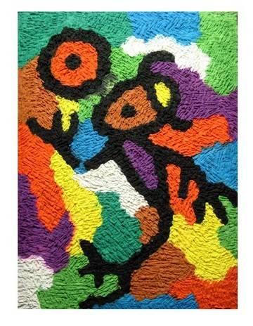 类似色的画_纸浆画类似于彩泥,就是以纸浆为主要材料创作的工艺美术作品.