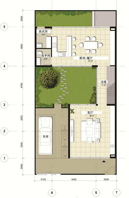 新農村3層自建房 10米寬宅地 現代風格含平面圖圖片