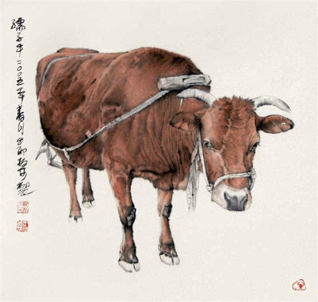 作品具有鲜明的个人风格和艺术感染力,在工笔画动物领域独树一帜.