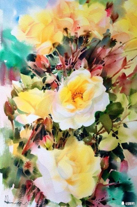 WWW_PORN_COMON_花卉绘画——泰国水彩画家adisornpornsirikarn