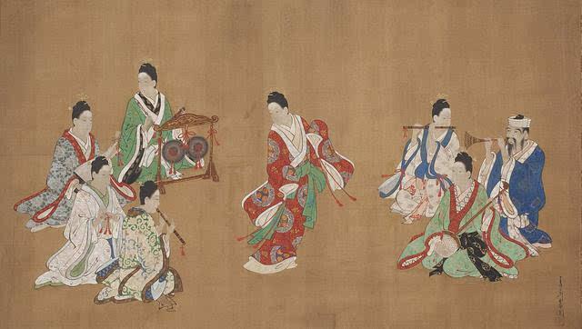 琉球人_宫川长春   琉球人舞乐图