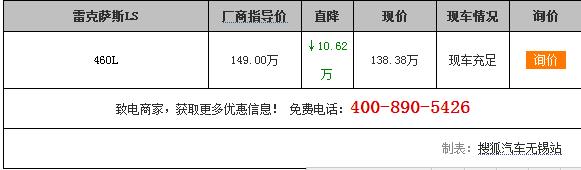 【无锡】雷克萨斯LS降价10.62万,现在车已经够多了!