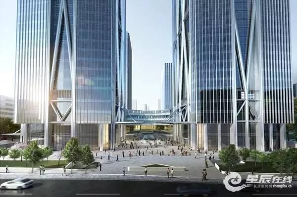 长沙最高楼效果图_高!大!上!揭秘长沙滨江国际金融中心,高达328米