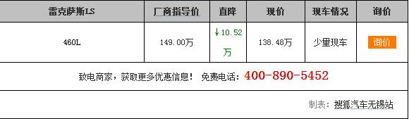 【无锡】雷克萨斯LS降价10.62万送礼包!
