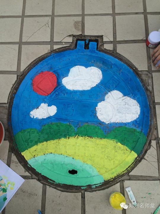 创意井盖怎么画_井盖涂鸦图片