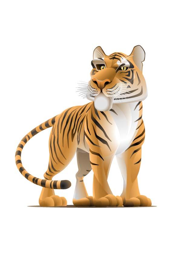 卡通动物手机壁纸_动漫 动物 虎 卡通 老虎 漫画 头像 桌面 595_841 竖版 竖屏 手机