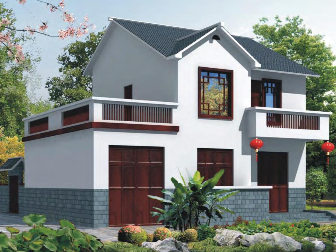 農村建造一幢房子100平方設計圖展示圖片