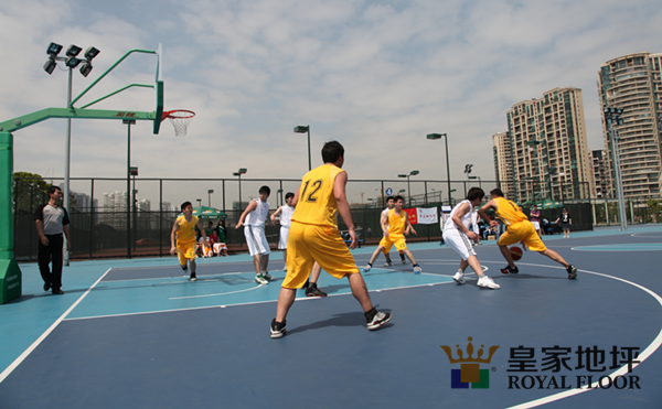 学校硅PU篮球场
