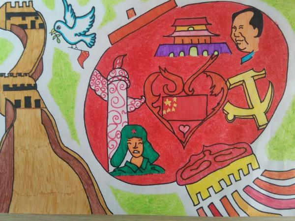 五城联创主题画_关于中国梦的绘画六年级的_中国梦绘画作品一等奖_以中国梦为 ...