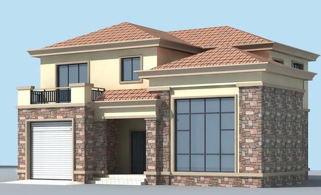 适合农村建造的2层现代别墅